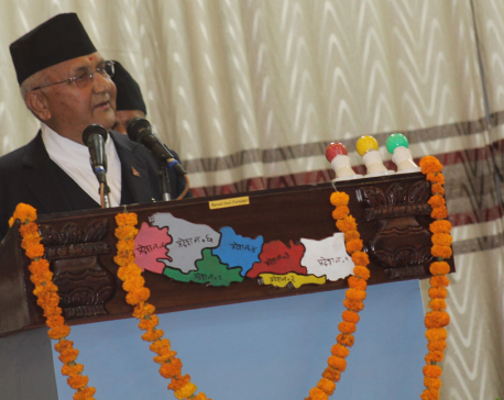 PM Oli stresses development, vows to end corruption