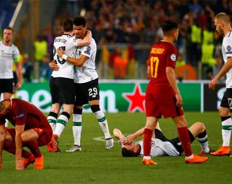 Liverpool hold off brave Roma to reach Champions League final