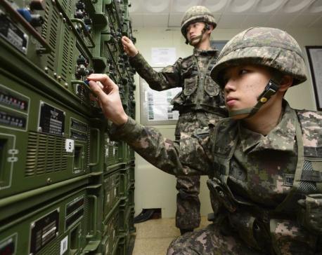 SKorea halts propaganda broadcasts before summit with North