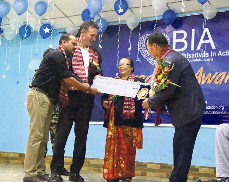 Daya Ram Maharjan honored at BIA Awards
