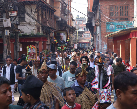 Week-long unique Gaijatra begins in Bhaktapur