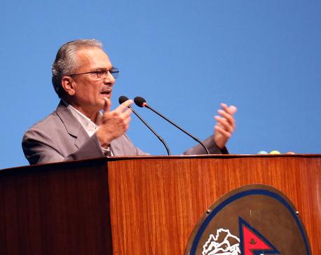 Dr Bhattarai voices for amending Civil Code