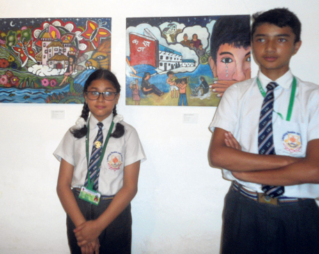 Exhibiting student's art at SAG