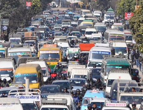 Traffic congestion ahead of Myanmar Prez arrival