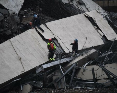 Cars plunge as highway bridge collapses in Italy; 22 dead