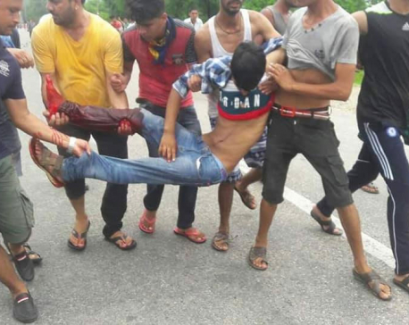 Updated: 8 hurt as police open fire on protesters in Kanchanpur