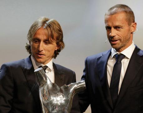Modric pips Ronaldo, Salah to UEFA player of year prize