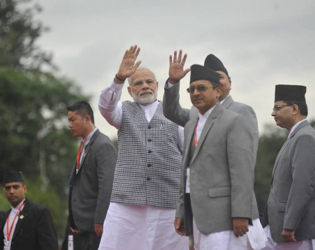 Indian PM Modi arrives in Kathmandu for BIMSTEC (with photos)