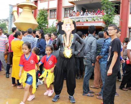Palpa observes Gaijatra in memory of departed souls