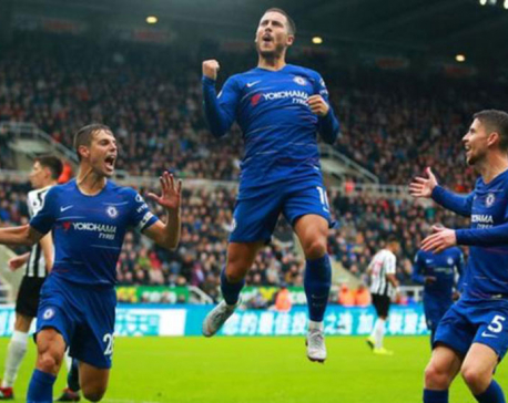 Late own goal gives Chelsea victory over  Newcastle
