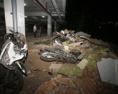 Powerful quake rocks Indonesian tourist island, 82 dead