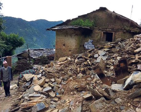 Over 150 houses in Bajura at risk of dry landslide