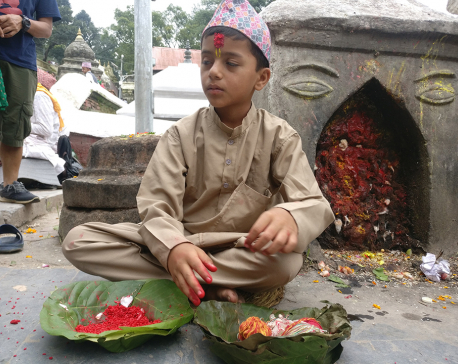 'Little Pandit' at Pashupatinath (with photos)
