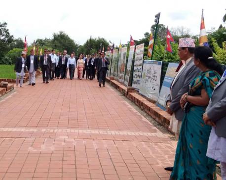 Myanmar's Prez, First Lady at Lumbini
