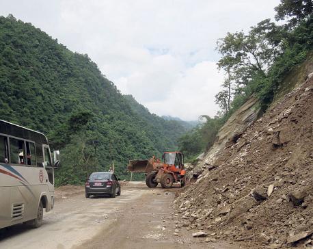 Narayangadh-Muglin road disruption recurring