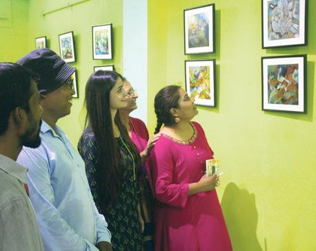 Nepali art exhibition in Banaras