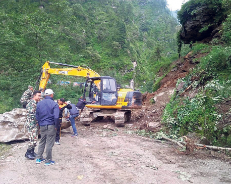 Repair works of Raswuagadhi route begins