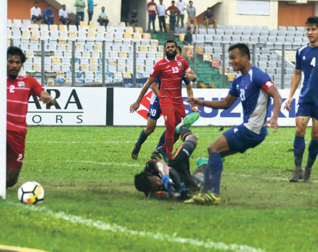 Nepal throws away opportunity to Maldives, fails to reach first SAFF final