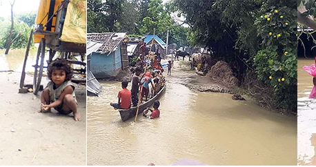 Floods inundate villages in Saptari, over 500 families affected (with video)