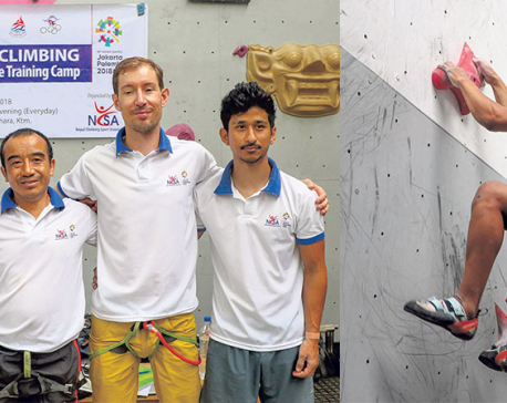 Sherpa, Shrestha aiming medals in sports climbing at Asian Games