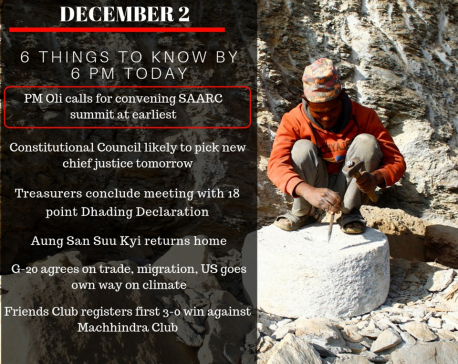 Dec 2: 6 things to know by 6 PM today