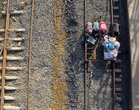 Nepal gets first modern train tracks