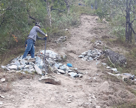 Work begins on walking trail from Beni Bazar to Lovely Hill