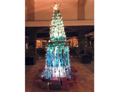 Christmas celebration at Hyatt Regency with a tree lighting ceremony