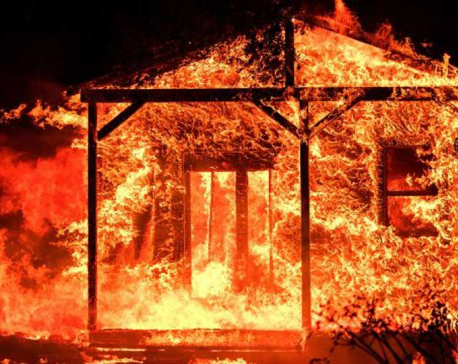 Six houses burnt down in Lahan fire
