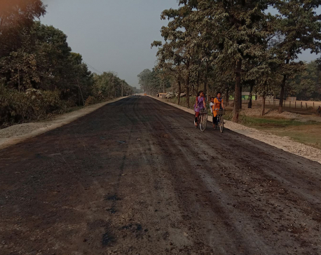 Blacktopping of Gulariya-Belawa road section begins
