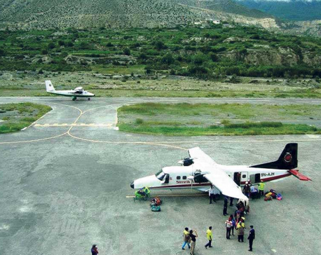Jomsom airport runway being repaired after two decades