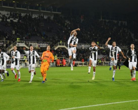 Ronaldo scores for fifth game in a row as Juve win again