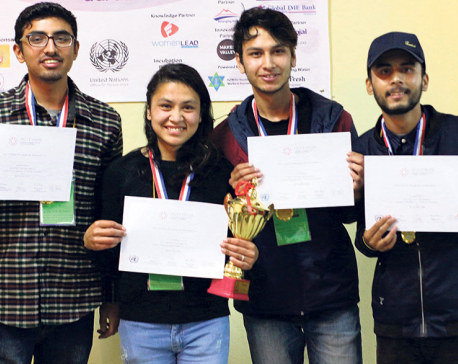 Team SRASTHA wins the Hult Prize at TUSOM 2019