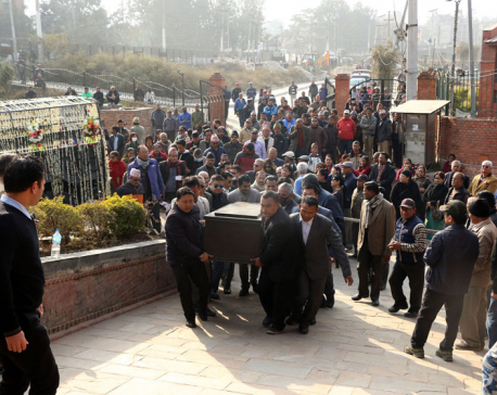 Former PM Giri cremated at Pashupati Aryaghat