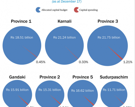 Provinces have achieved only 1.18 percent progress in development spending in five months