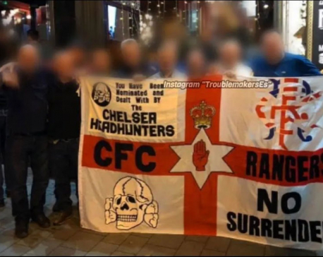 Chelsea FC fans caught displaying Nazi symbol in Budapest