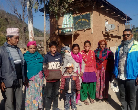 Children return home after being rescued from brick kilns