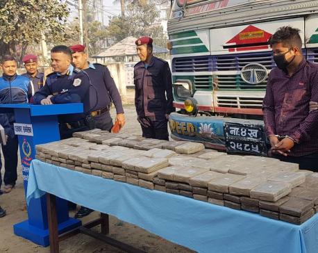 Police seize 160 kg of hashish