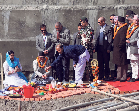 Construction of new Dharahara begins