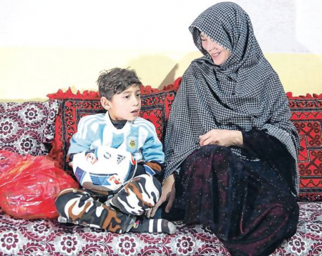 'Little Messi' flees Afghan home for the second time