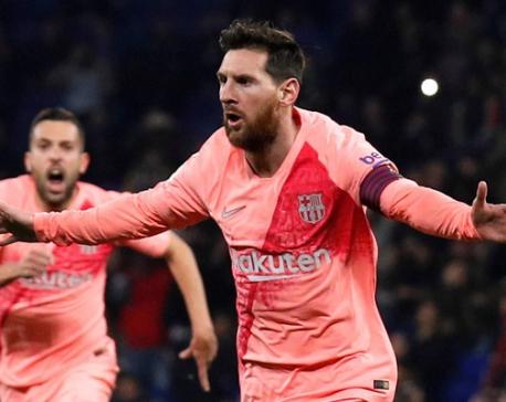 Messi shines as Barca thrash Espanyol in derby
