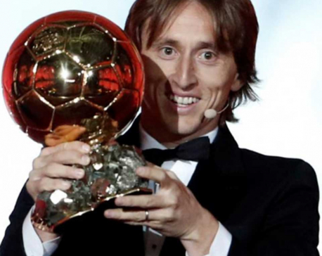 Modric wins 2018 Ballon d'Or, breaks Messi-Ronaldo dominance