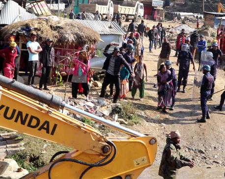 Locals protesting demolitions clash with police in West Rukum, 10 injured