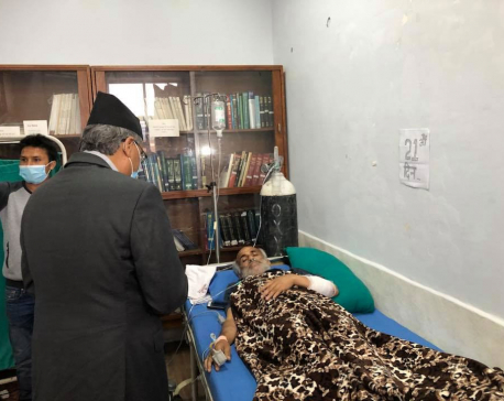 """""""You are not alone; millions are behind you,"""" Deuba to Dr KC"""