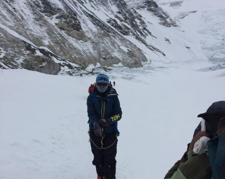 Journo Doma Sherpa scales Mt. Everest