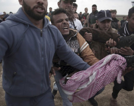 7 Palestinians killed by Israel fire on Gaza border