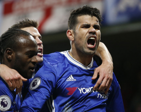Costa returns to Chelsea side, scores on 100th appearance