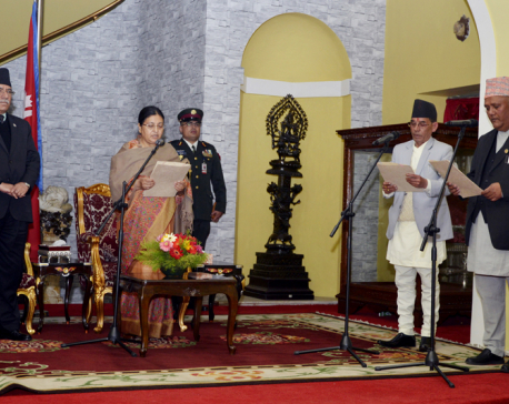 Two new ministers administered oath