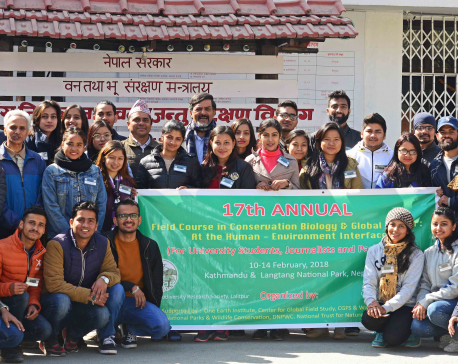 Environment as a Valentine: conservationists to trainees