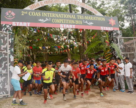 Tribhuvan Army Club Team A wins 2nd CoAS Int'l Tri-Marathon title